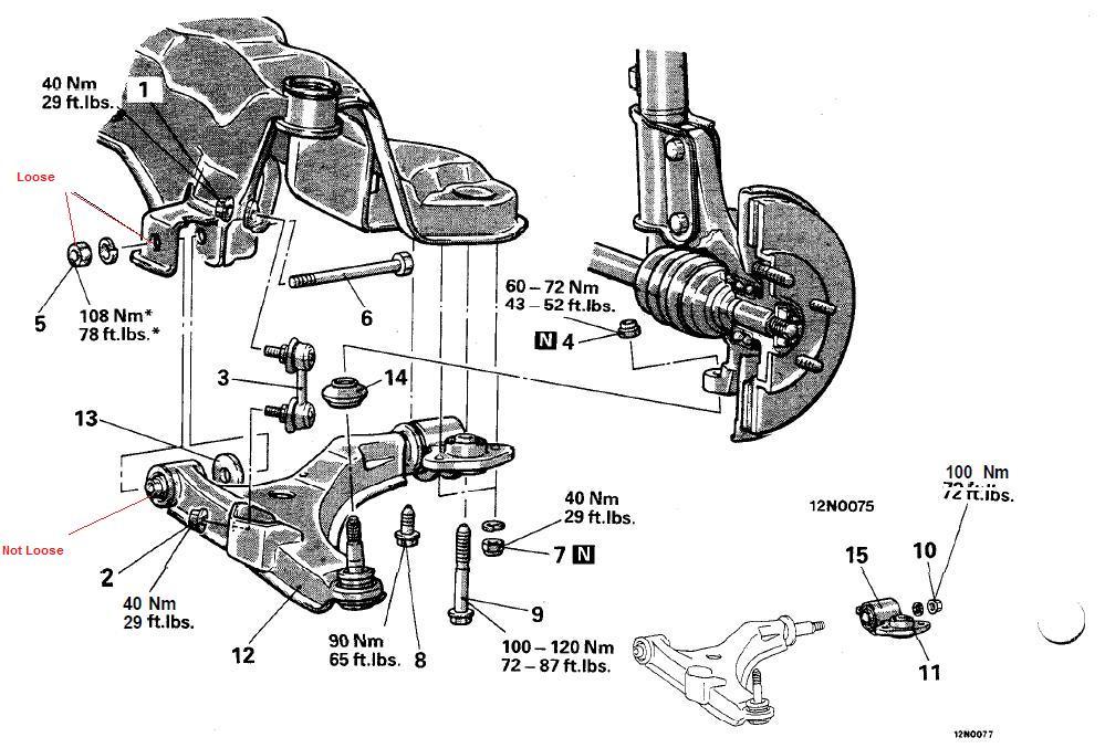 Lower Suspension Arm Bolt Loose 3000gt Stealth